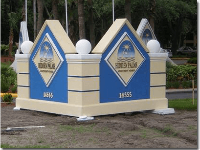 Traditional Foam Core Monument Signs